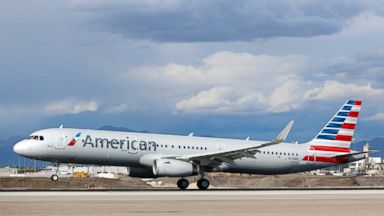 PHOTO: An Airbus A321 (A321-200) jetliner, belonging to American Airlines, lands at McCarran International Airport in Las Vegas, Nevada, March 2, 2015.