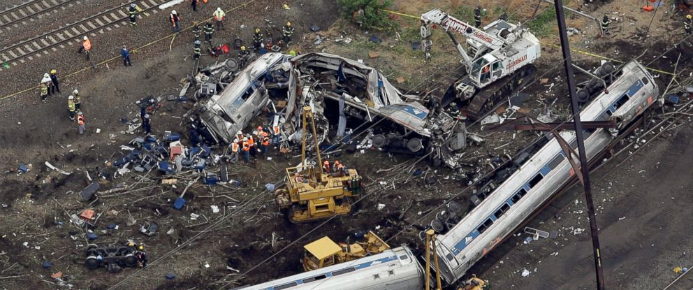 PHOTO: An Amtrak train headed to New York City derailed and crashed in Philadelphia on May 12, 2015. Federal authorities continue to investigate the crash that killed eight people and injured more than 200.