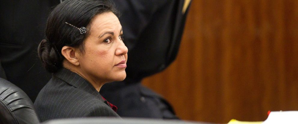 PHOTO: In this March 31, 2014 file photo, Ana Lilia Trujillo, left, sits in the courtroom before opening arguments at her trial in Houston. Trujillo was convicted of murder, April 8, 2014.