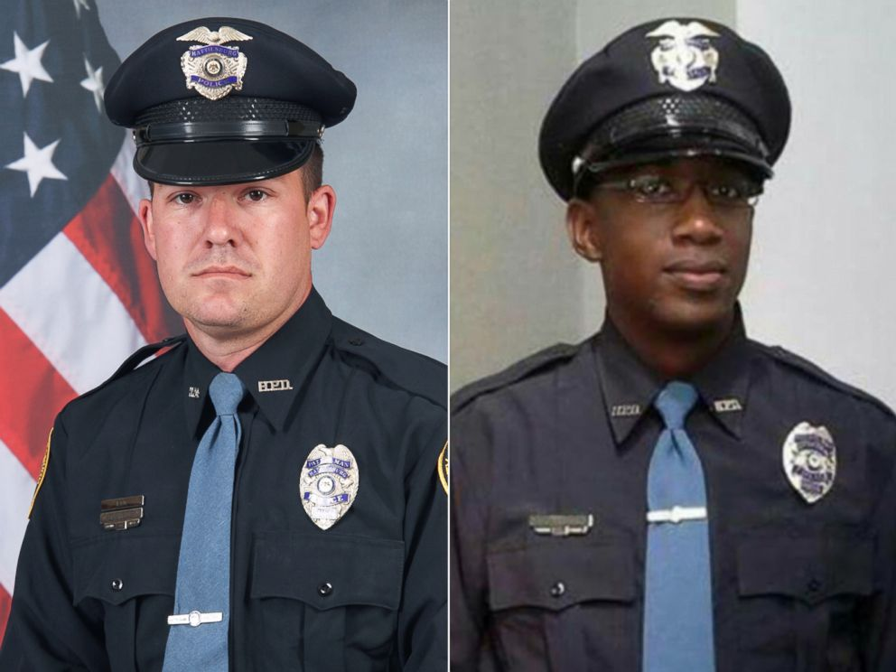 PHOTO: (L-R) Officer Benjamin Deen and Officer Liquori Tate were fatally shot during a traffic stop, Saturday evening, May 9, 2015, in the southern Mississippi city of Hattiesburg, authorities said.