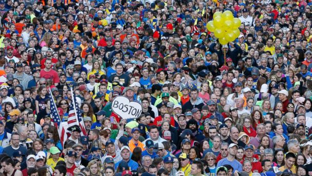 AP boston marathon bombing anniversary crowd jt 140412 16x9 608 Thousands Turn Out for Boston Marathon Sports Illustrated Cover