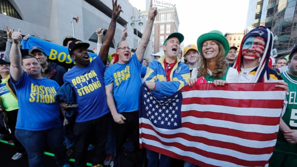 AP boston marathon bombing anniversary flag jt 140412 16x9 608 Thousands Turn Out for Boston Marathon Sports Illustrated Cover