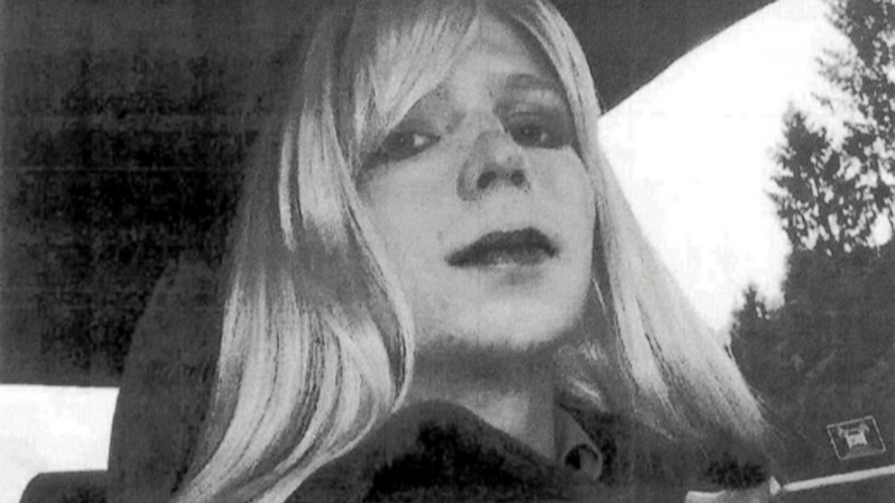 PHOTO: Chelsea Manning poses wearing a wig and lipstick in this undated file photo provided by the U.S. Army, Pfc.