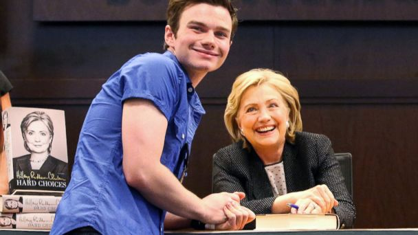 AP chris colfer hillary clinton sk 140617 16x9 608 7 Surprising Moments on Hillary Clintons Book Tour