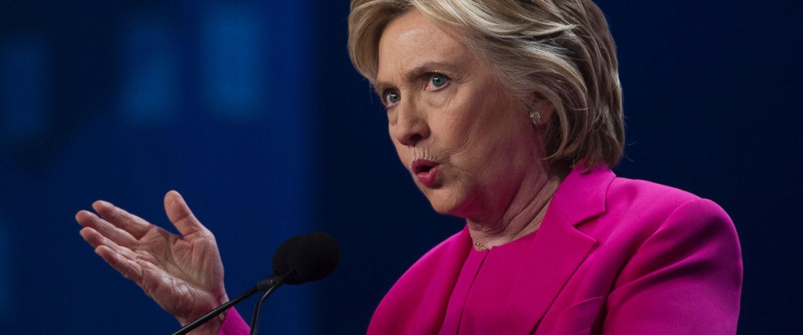 PHOTO: Hillary Clinton addresses the The National Education Association (NEA) Representative Assembly in Washington, July 5, 2016.