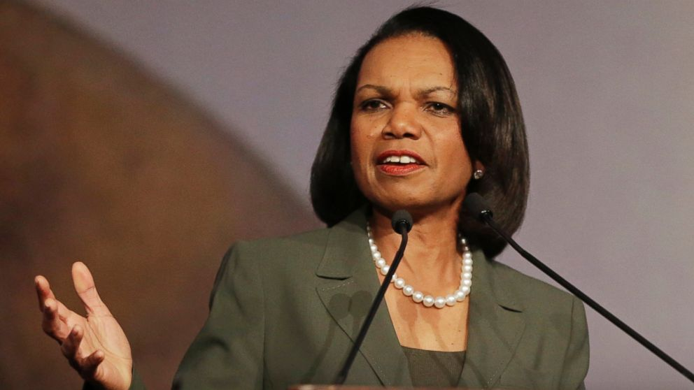 PHOTO: Former Secretary of State Condoleezza Rice speaks at the California Republican Party 2014 Spring Convention in Burlingame, Calif., March 15, 2014.