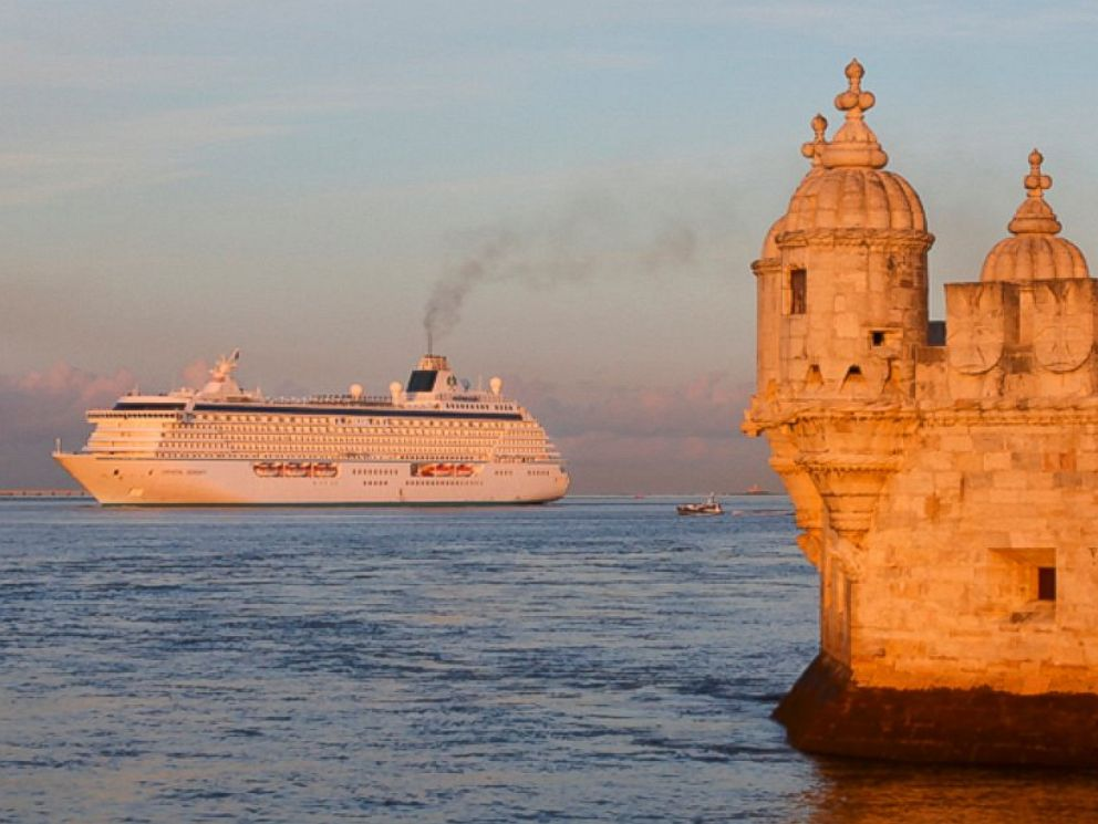 PHOTO: This undated photo provided by Crystal Cruises shows the luxury ship Crystal Serenity in the waters off of Lisbon, Portugal.