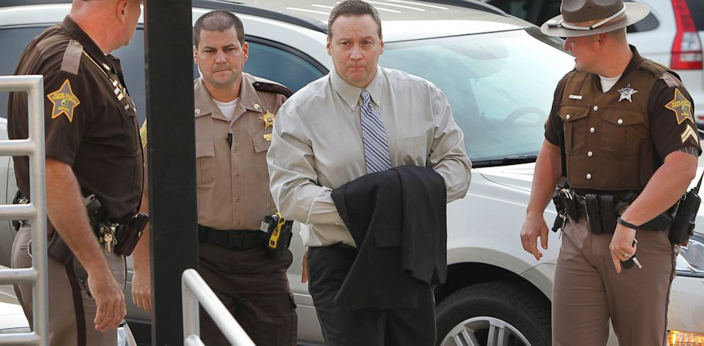 PHOTO: David Camm arrives at the Boone County Courthouse in Lebanon, Ind., Aug. 22, 2013.