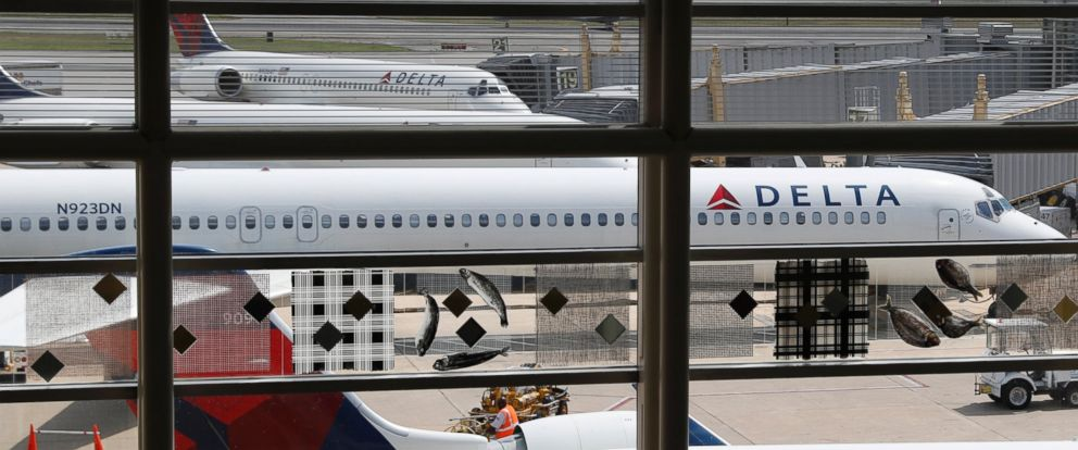 PHOTO: In this Monday, Aug. 8, 2016, file photo, Delta Air Lines planes are parked at Ronald Reagan Washington National Airport, in Washington.