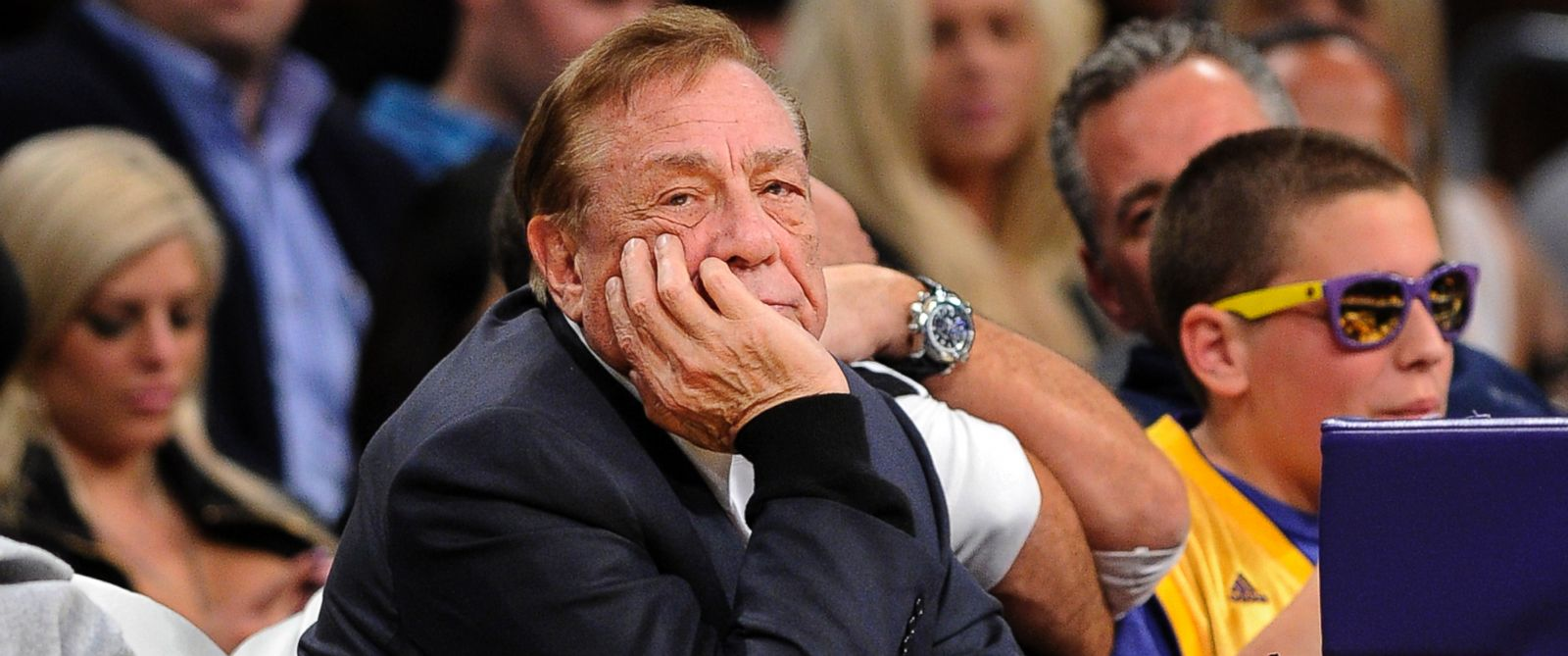 PHOTO: Los Angeles Clippers owner Donald Sterling looks on during the first half of their NBA basketball game against the Los Angeles Lakers in Los Angeles, Calif., Feb. 25, 2011.
