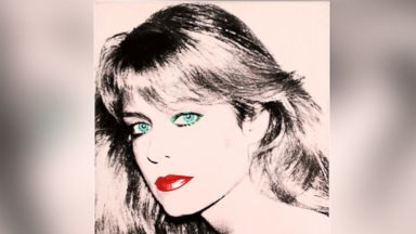 PHOTO: This photo released by courtesy of the Blanton Museum of Art shows Andy Warhols painting of Farrah Fawcett, 1980.
