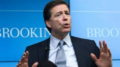 PHOTO: FBI Director James Comey speaks about the impact of technology on law enforcement, Oct. 16, 2014, at Brookings Institution in Washington.