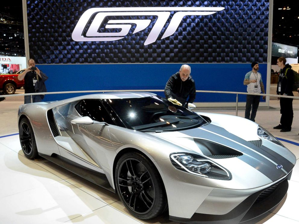 photo a ford gt is on display during the media preview of the chicago auto