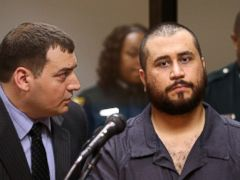 PHOTO: George Zimmerman listens to defense counsel Daniel Megaro, left, Nov. 19, 2013, in Sanford, Fla., during Zimmermans hearing.