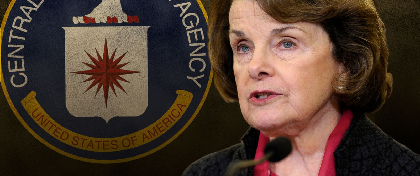 PHOTO: Dianne Feinstein with the CIA seal.