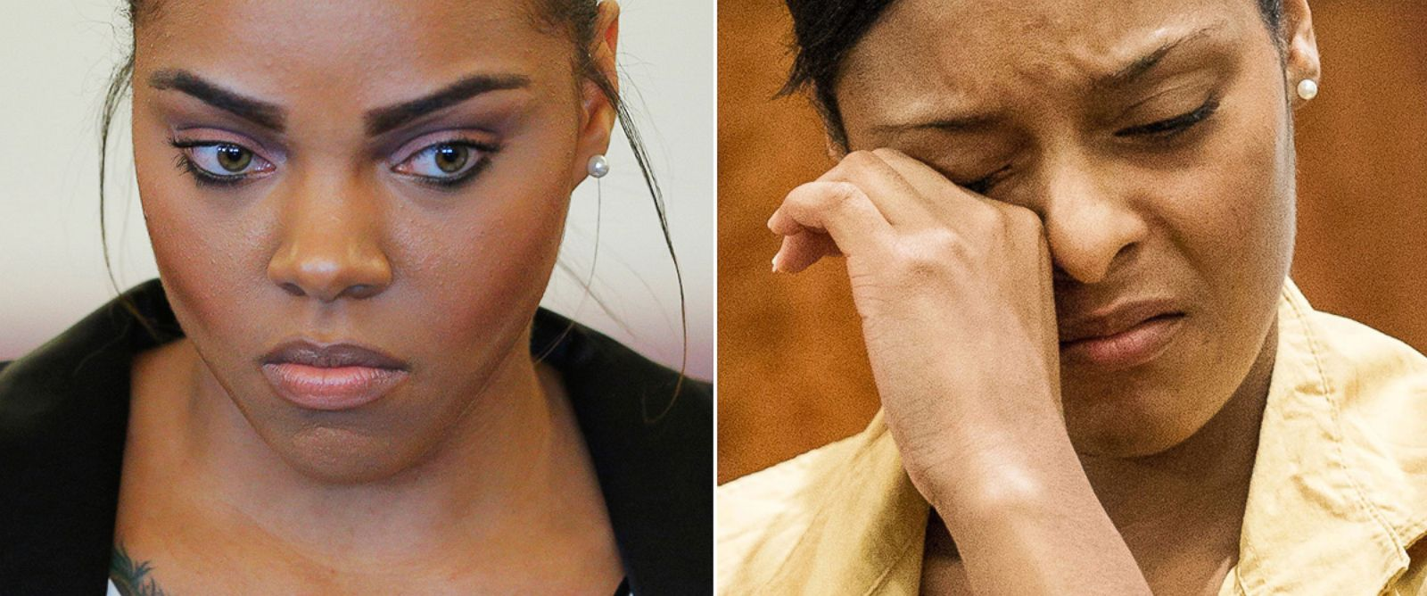 PHOTO: Shayanna Jenkins, left, is pictured in Fall River, Mass. on Dec. 22, 2014. Shaneah Jenkins, right, is pictured in Fall River, Mass. on Feb. 3, 2015.
