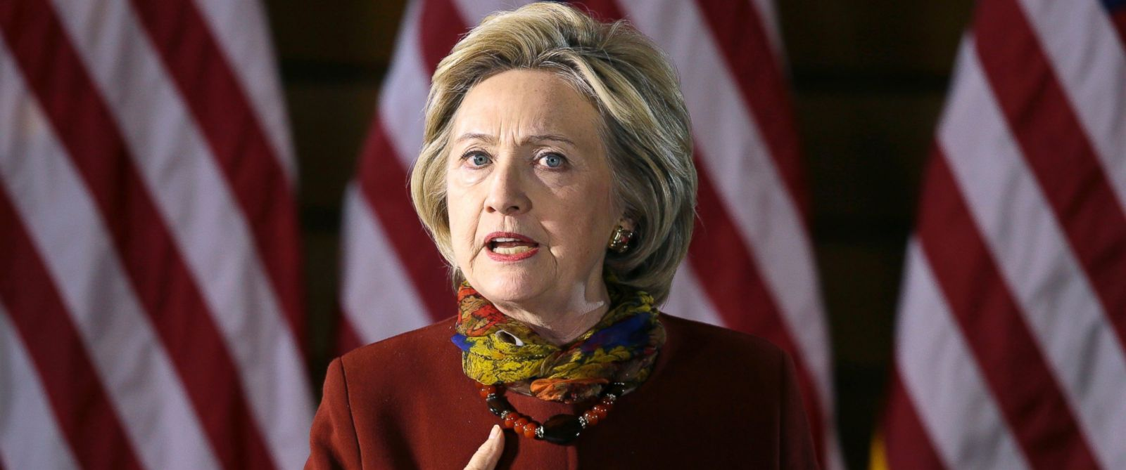 PHOTO: Democratic presidential candidate Hillary Clinton speaks about her counterterrorism strategy during a speech at the University of Minnesota, Dec. 15, 2015, in Minneapolis.