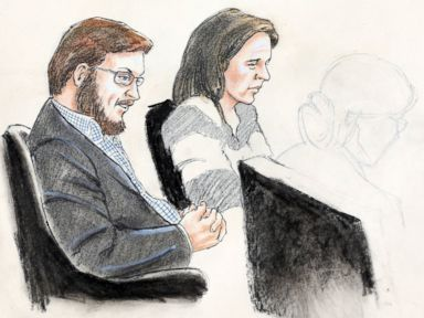 PHOTO: James Holmes, left, and defense attorney Tamara Brady are depicted, as they sit in court on the first day of jury selection in Holmes trial, at the Arapahoe County Justice Center, Jan. 20, 2015, in Centennial, Colo.