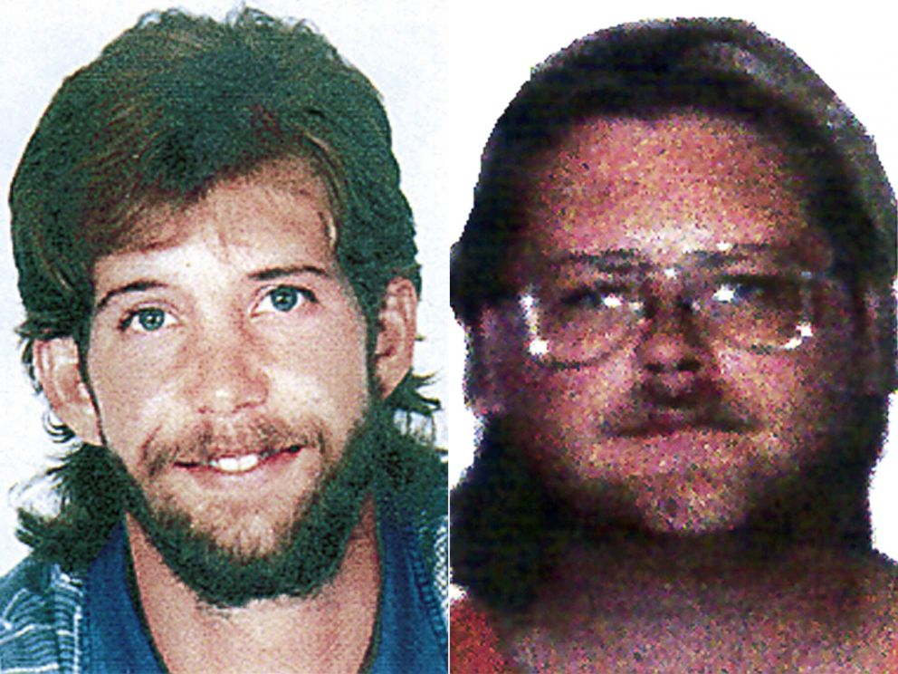 PHOTO: Jason Wayne McVean, left, and Alan Lamont Pilion, shown in these undated photos, are survivalists wanted in the May, 29, 1998 killing of Cortez police officer Dale Claxon