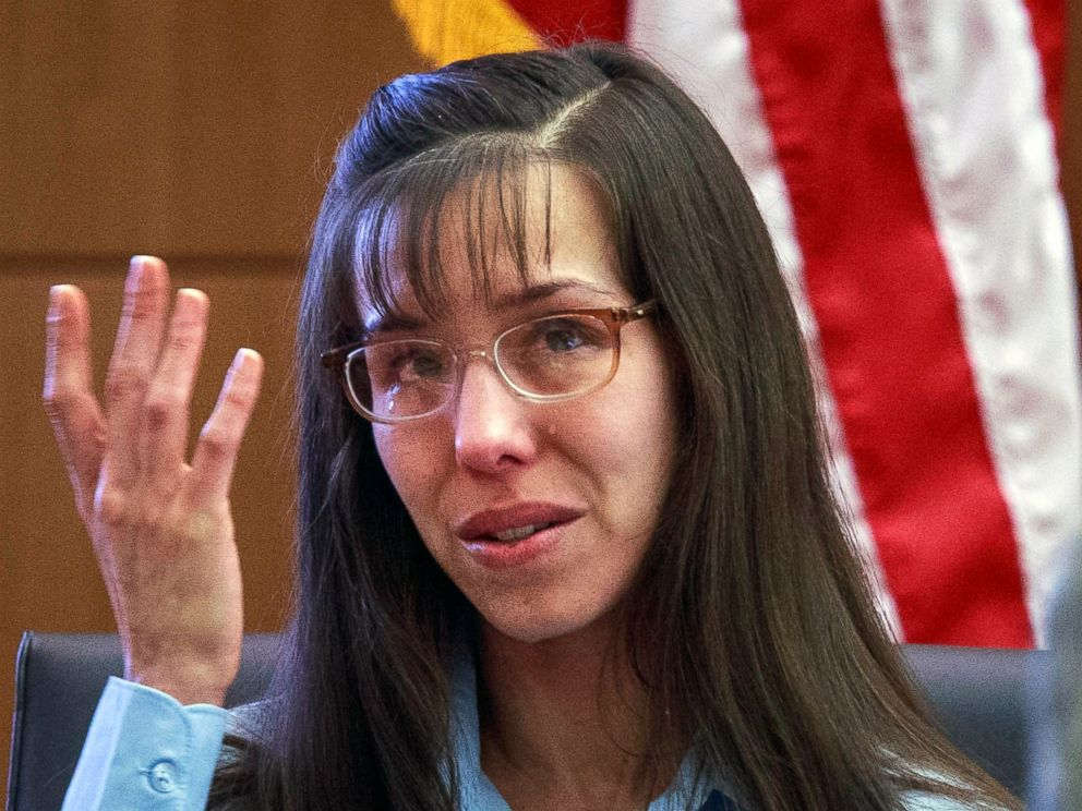 PHOTO: Defendant Jodi Arias testifies about killing Travis Alexander in 2008 during her murder trial in Phoenix, Feb. 20, 2013.