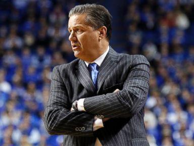 PHOTO: Kentucky head coach John Calipari watches his team during a game against Boston University