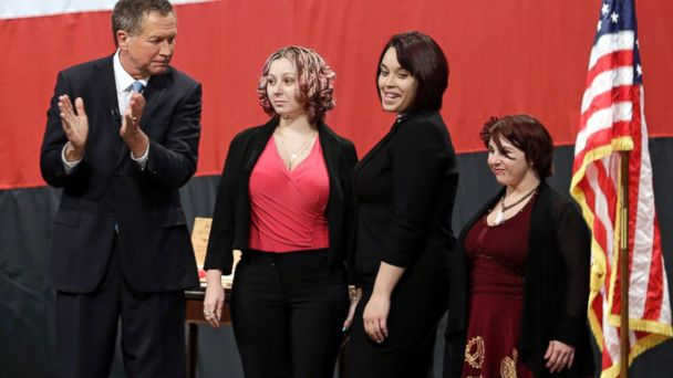 AP john kasich cleveland tk 140225 16x9 608 Cleveland Kidnapping Trio Get Ovation and Courage Award
