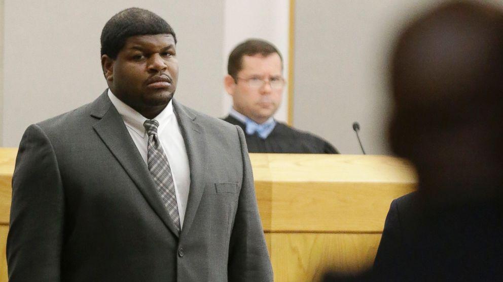 PHOTO: Former Dallas Cowboys Josh Brent stands in court in Dallas, Jan. 10, 2014.