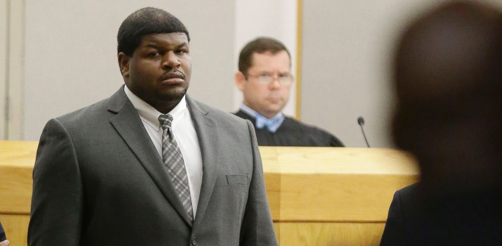 PHOTO: Former Dallas Cowboys Josh Brent stands in court in Dallas, Jan. 10, 2014.