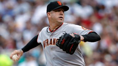 PHOTO: San Francisco Giants relief pitcher Justin Miller