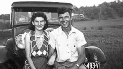 PHOTO: Kenneth and Helen Felumlee pose for a photo nearly three years before their marriage in February 1944, in this September 1941 photo provided by Dick Felumlee.