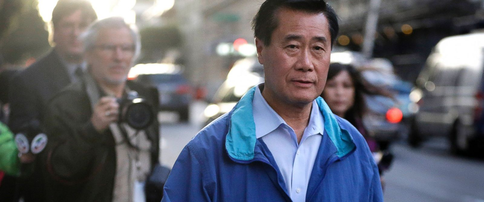 PHOTO: California Sen. Leland Yee, D-San Francisco, leaves the San Francisco Federal Building, March 26, 2014, in San Francisco.