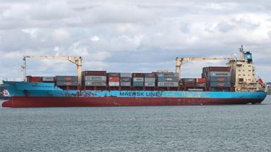 PHOTO: In this April 22, 2009 file photo, the U.S.-flagged Maersk Alabama leaves the port of Mombasa, in Kenya.