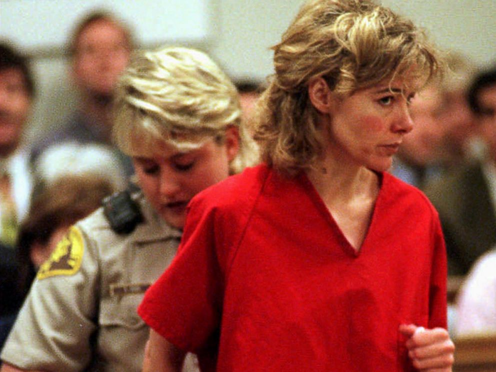 PHOTO: Former grade school teacher Mary Kay LeTourneau, who had an affair with a 13-year-old boy, and had his baby, has her handcuffs removed at the start of a hearing in Seattle, Feb. 6, 1998.