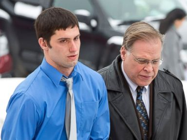 PHOTO: Matthew Barnett walks into the courthouse with his legal counsel J.R. Hobbs for a hearing Jan. 9, 2014 in Maryville, Mo.