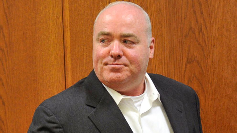 PHOTO: Michael Skakel leaves the courtroom at State Superior Court in Vernon, Conn., April 30, 2013.