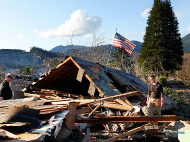 Photos: Dozens Missing After Mudslide in Washington