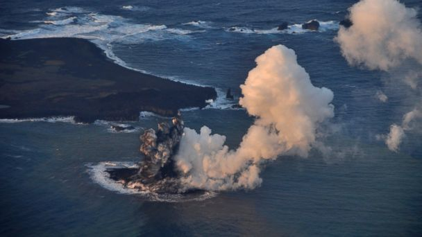 AP new japan island jtm 131121 16x9 608 New Island Pops Up After Volcano Eruption