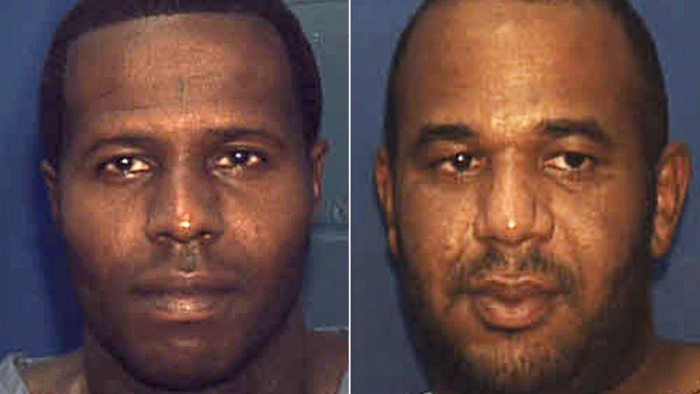PHOTO: Two convicted murderers, Charles Walker, left, and Joseph Jenkins were mistakenly released from prison with forged documents in Frankl