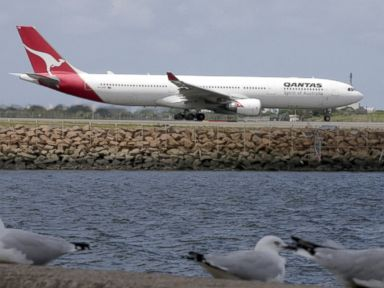 PHOTO: A Qantas plane prepares to take off at Sydney Airport in Sydney, Australia, Feb. 21, 2013.