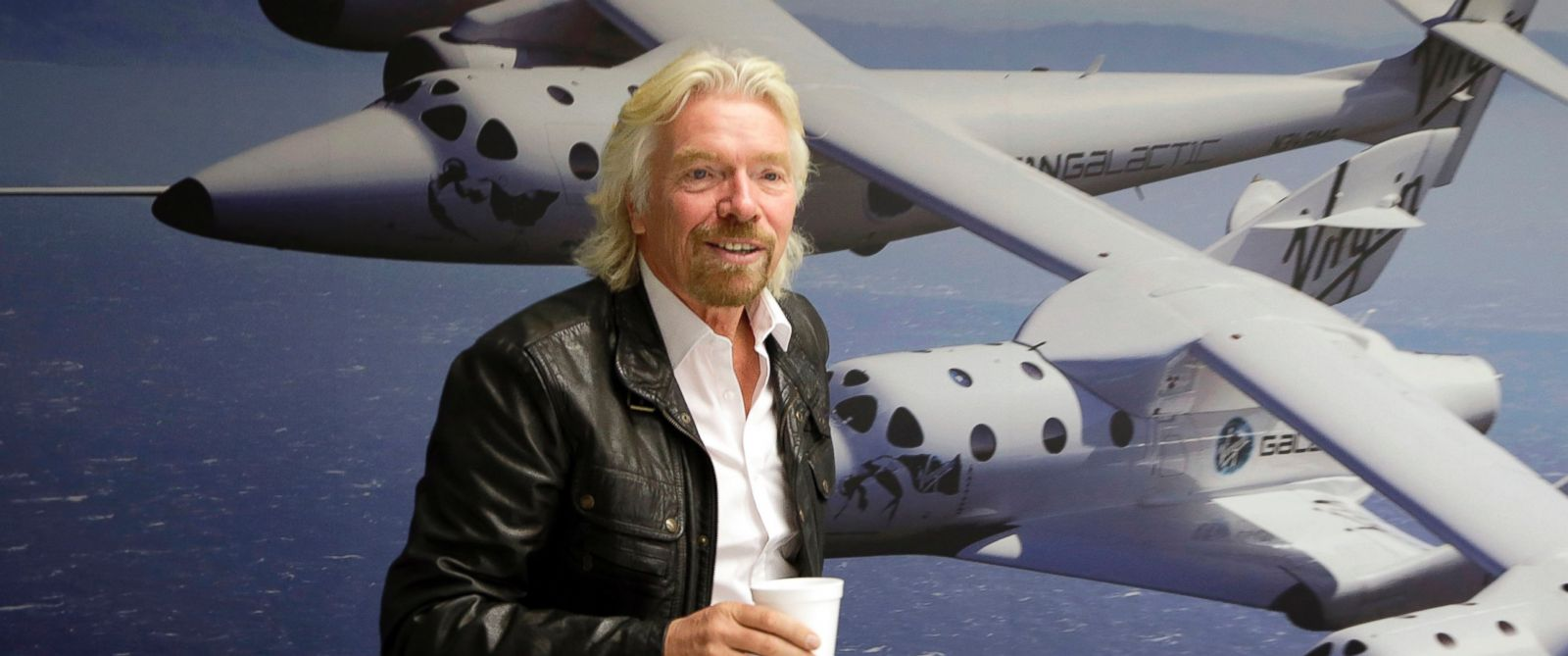 PHOTO: British entrepreneur Richard Branson is seen at the Virgin Galactic hangar at Mojave Air and Space Port in Mojave, Calif., Sept. 25, 2013.
