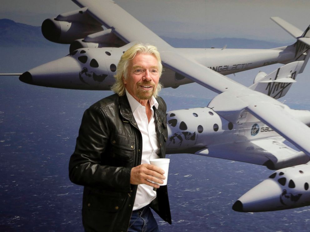 PHOTO: British entrepreneur Richard Branson is seen at the Virgin Galactic hangar at Mojave Air and Space Port in Mojave, Calif., Sept. 25, 2014.