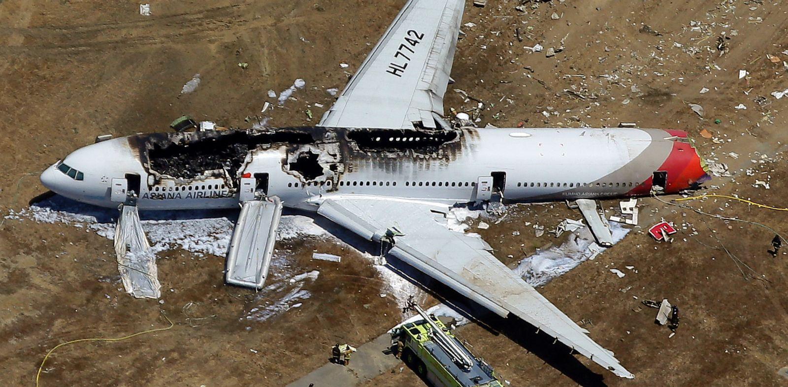 PHOTO: wreckage of Asiana Flight 214