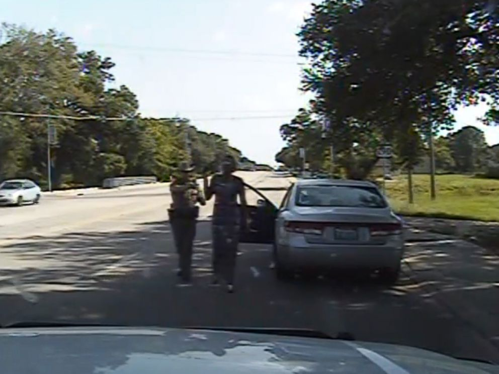 PHOTO: The Department of Public Safety in Austin, Texas released the dash cam footage of Sandra Blands arrest.
