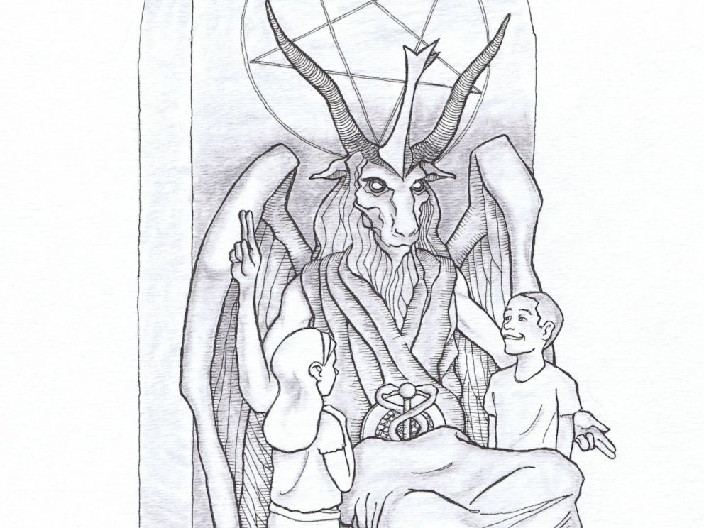 PHOTO: This artists rendering provided by the Satanic Temple shows a proposed monument that the New York-based Satanic group wants to place at the Oklahoma state Capitol.