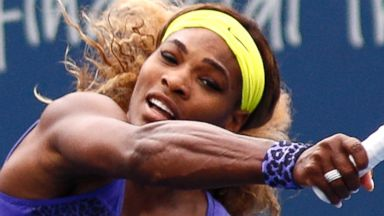 PHOTO: Serena Williams during a semifinal match at the Western & Southern Open tennis tournament, Aug. 16, 2014, in Mason, Ohio.