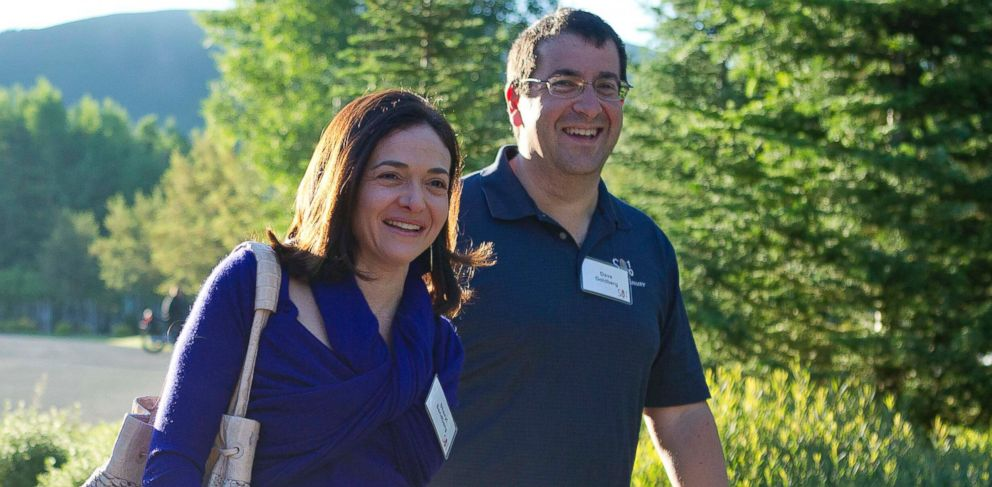 PHOTO: Facebook chief operating officer Sheryl Sandberg, left, and Dave Goldberg, CEO of Survey Monkey, arrive at the Sun Valley Inn for the 2011 Allen and Co. Sun Valley Conference, Wednesday, July 6, 2011, in Sun Valley, Idaho.