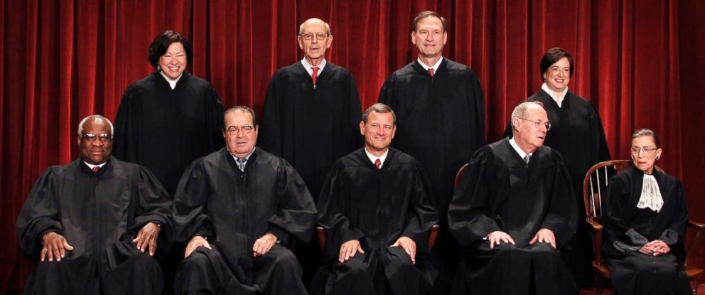 PHOTO: The Supreme Court justices pose for a group photo at the Supreme Court in Washington, Oct. 8, 2010.