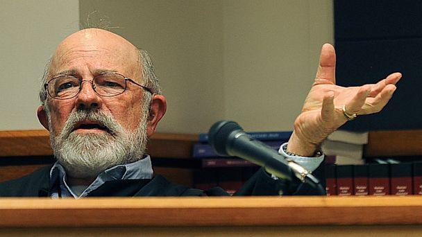 PHOTO: District Judge G. Todd Baugh presides at a hearing in Great Falls, Mont. in this undated file photo.