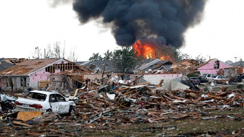 AP tornado fire nt 130520 wblog PHOTOS: AP Photographer on Capturing Kids Rescued From Tornado Ravaged Okla. School