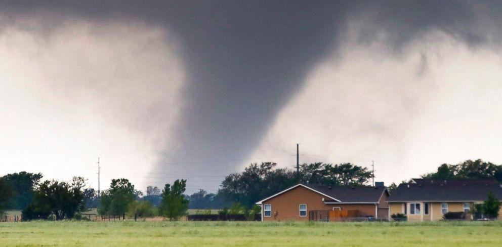PHOTO: A tornado passes near Halstead, Kan., May 6, 2015.